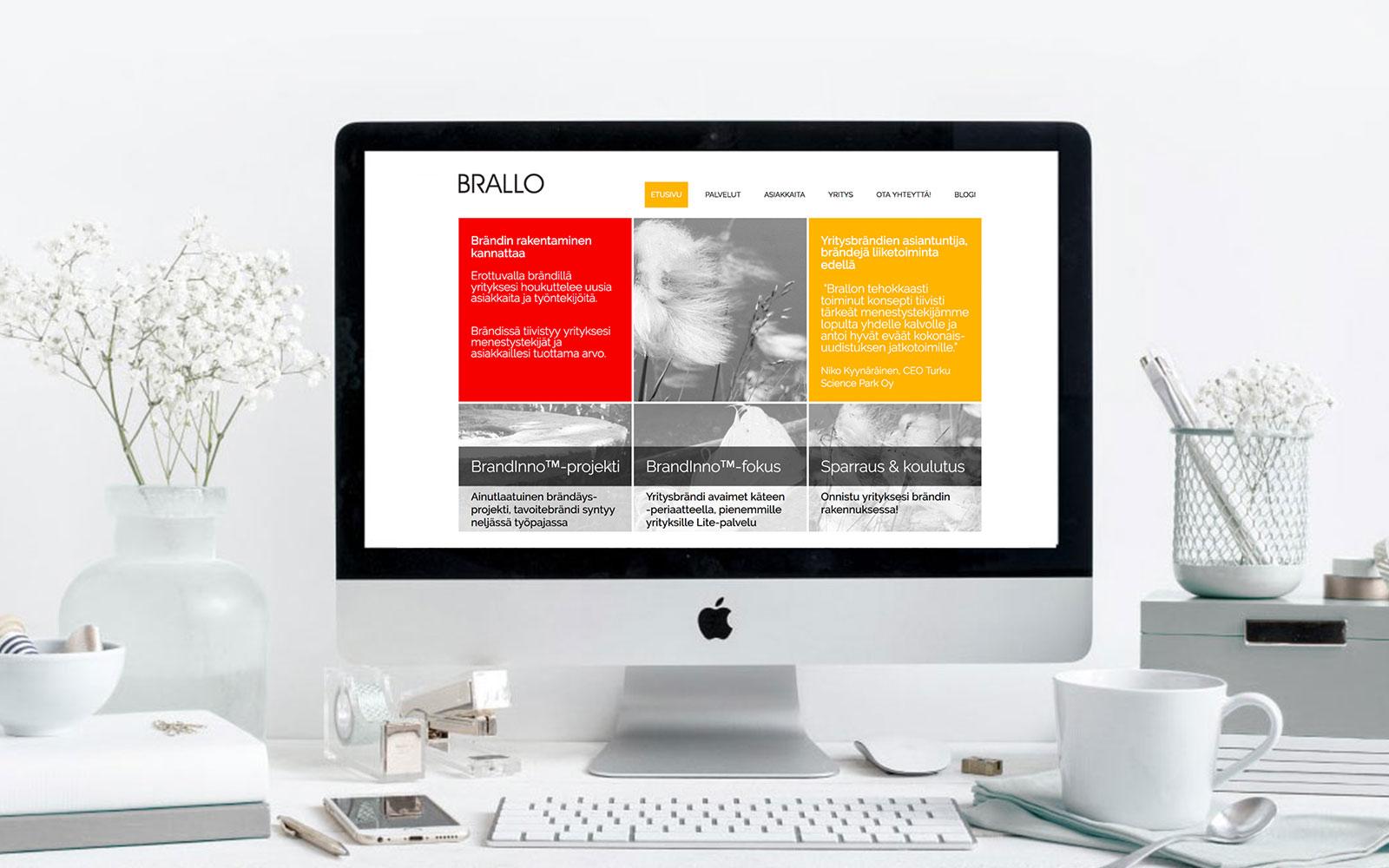 Brallo Verkkosivujen Ja Yritysilmeen Suunnittelu